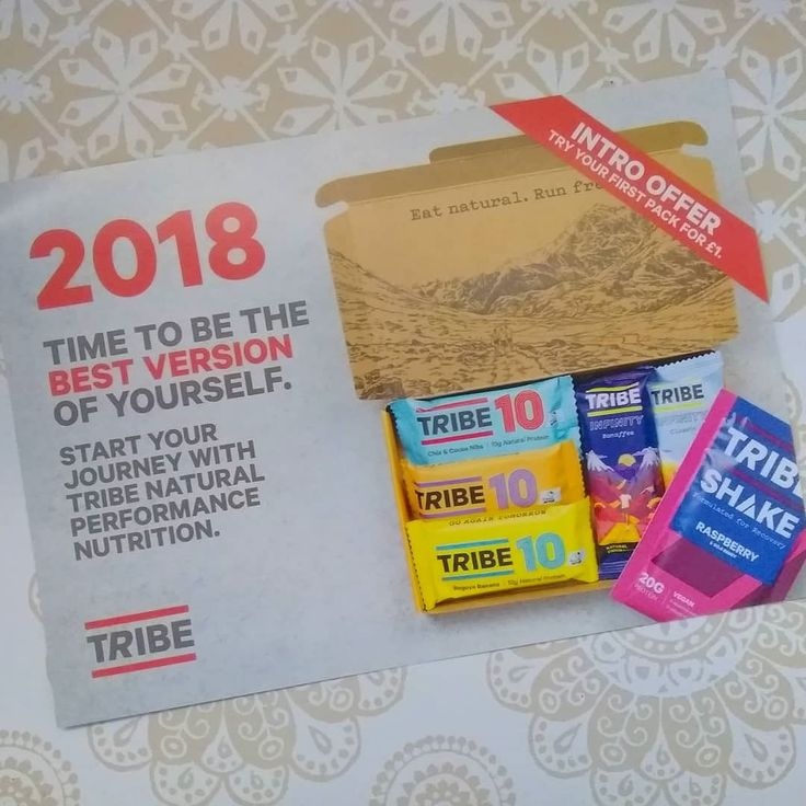 Got a code for some Tribe goodies with this month's Men's Running magazine. For a princely 1 I've decided to give it a try... should be here next week.  They offer pre and post workout snacks and can tailor your box based on your training and goals. I went with the suggested options will post a video when it arrives.  Apparently anyone who signs up with my link can also get their first box for 1. UK only I think. If you're interested send me a DM and I'll send you the link.  #snacks…