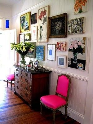 PINK & gallery wall
