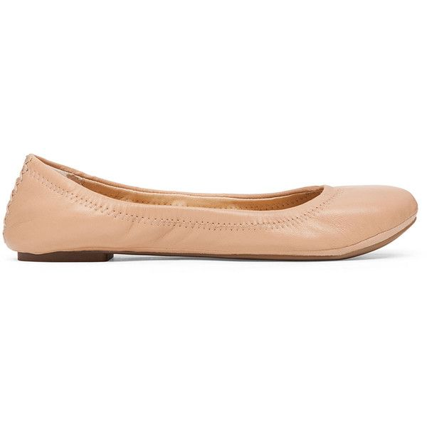 Lucky Brand Emmie Foldable Ballet Flat ($59) ❤ liked on Polyvore featuring shoes, flats, nude, ballet pumps, ballet flats, foldable shoes, ballet shoes and nude flats