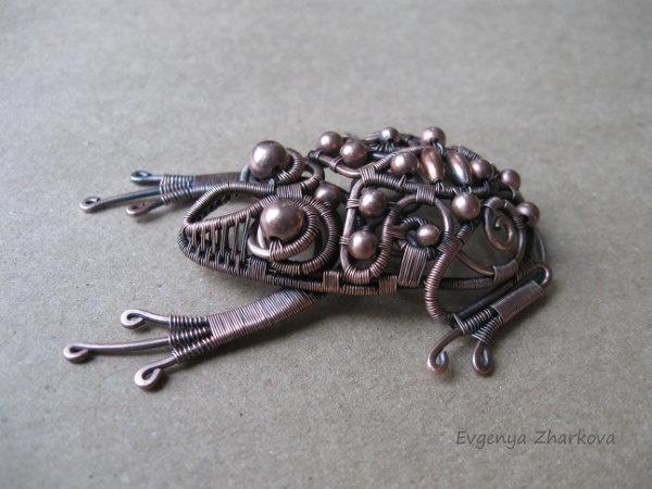 Frog. $45.00, via Etsy. by Evgeniya Zharkova