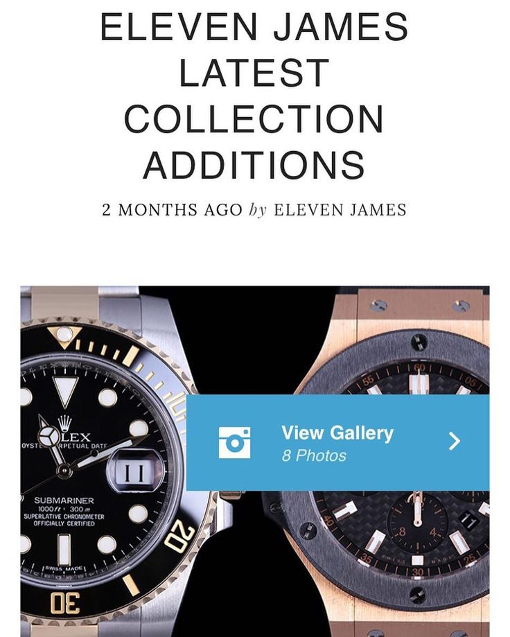 Log on to blog.elevenjames.com to check out our latest additions to the Eleven James Collection! @Rolex @Hublot #Rolex #Hublot #bigbang #submariner #rolexsubmariner #hublotbigbang #rosegold #18k  #watches #watch #watchesofinstagram #womw #wotd #wristi #wristwatch #wristporn #watchgeek #watchnerd #watchfam #horology by elevenjames