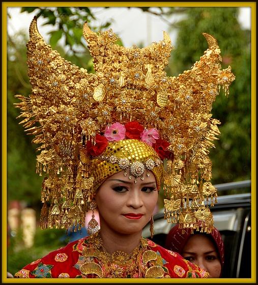 Minangkabau Bridal Head Dress (Sumatra)