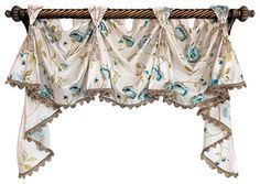 Bonita Victory Swag, Oyster, 2 Scoops traditional-valances. So pretty and comes in different lengths. Always do custom but this is nice.