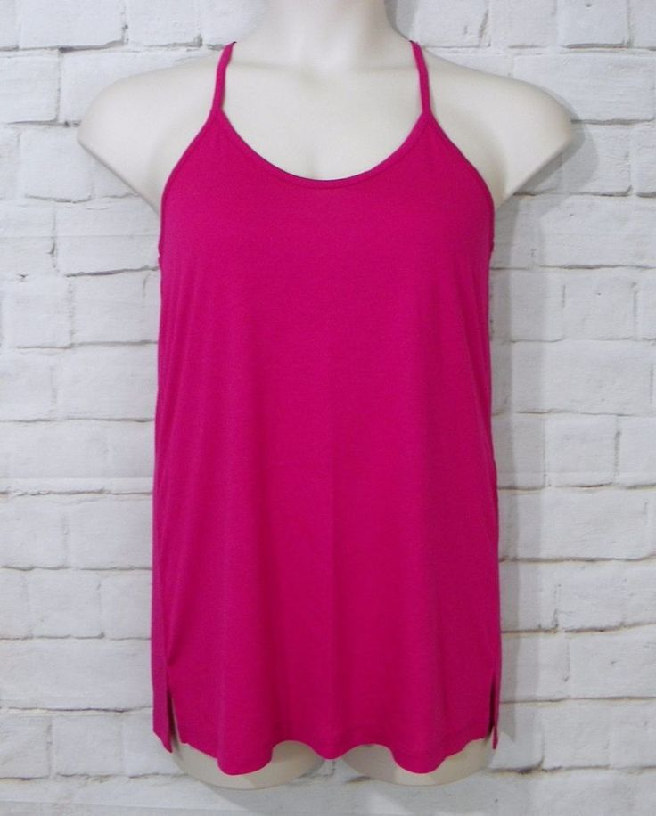 Womens OLD NAVY Pink Knit Lace Racerback Sleeveless Cami Tank Top Size Small #OldNavy #TankCami #Casual