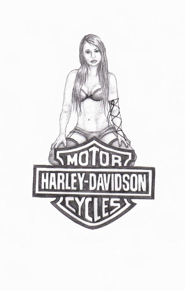 harley davidson symbols coloring pages - photo#2