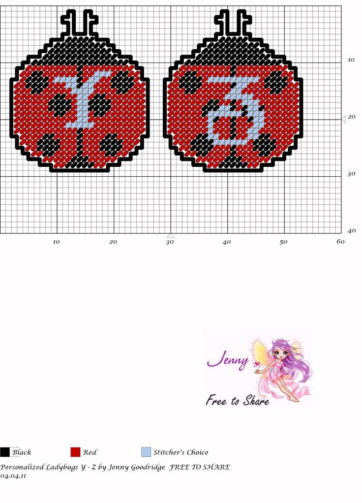 Personalized Ladybugs Y&Z