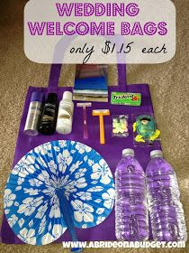 A Bride On A Budget: Wedding Welcome Bags (Oriental Trading Edition): Full bags for only $1.15 each