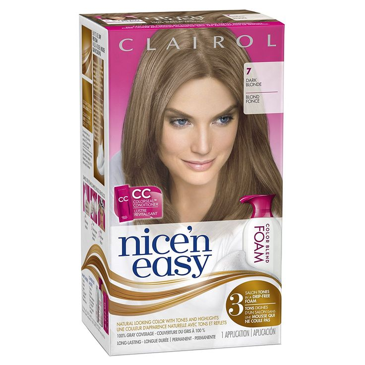 Clairol Nice 'n Easy Foam Hair Color 7 Dark Blonde (Pack of 3) -- Check out this great article. #hair