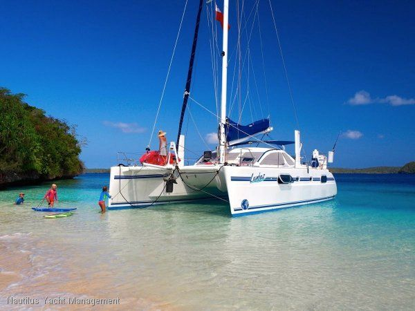 Catana 431 Maestro Version Refit 2013. Immaculate. Never Chartered. 2 Owners.. LUMBAZ is a nice example of the very sought after and classic Catana 431 performance cruising catamaran.   It is a true blue