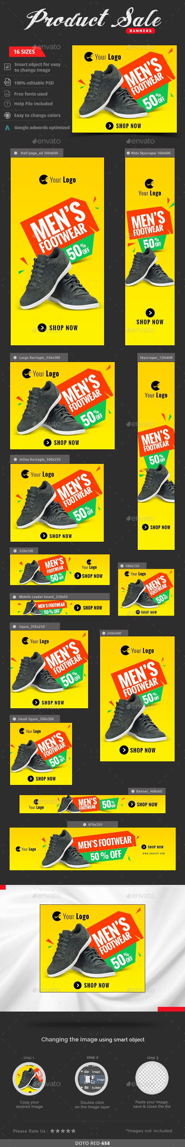 Product Sale Web Banners Template #design #ads Download: http://graphicriver.net/item/product-sale-banners/12952788?ref=ksioks
