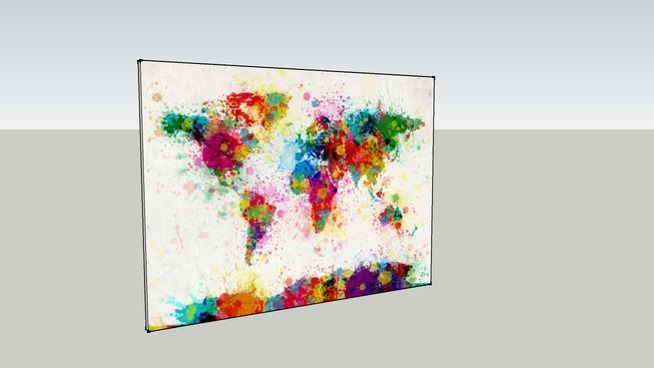 Splatter Painted Earth Painting - 3D Warehouse
