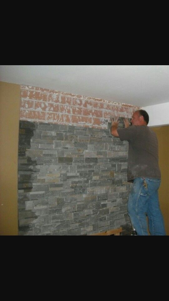 Slate Veneer Fireplaces Pinterest Fireplace Remodel Brick And Home