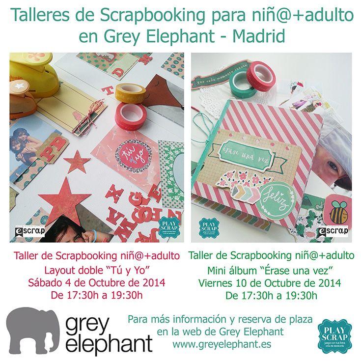 Talleres de Scrapbooking para niños + adulto en Grey Elephant - Madrid  #talleresdescrapbooking #scrapbooking #escrap #playscrap