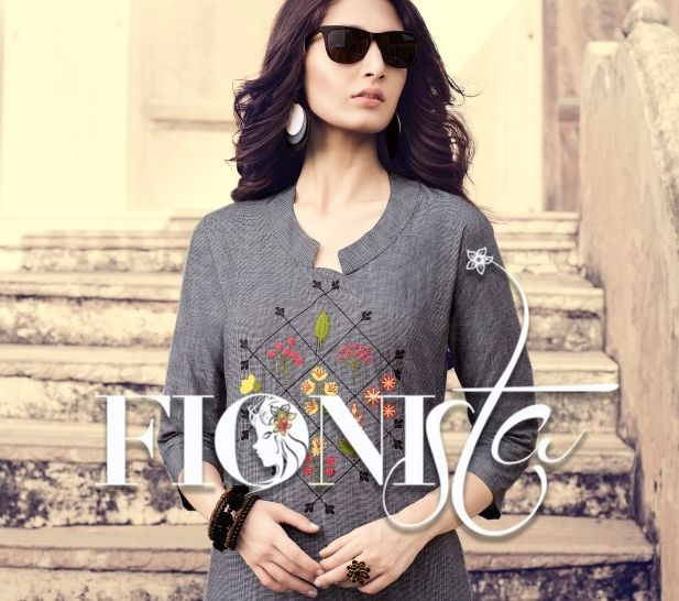 d38cef0f0b FIONISTA SHOPPER STOP VOL 2 PRINTED WEAVING CHECKS READYMADE KURTIS  COLLECTION AT WHOLESALE RATE