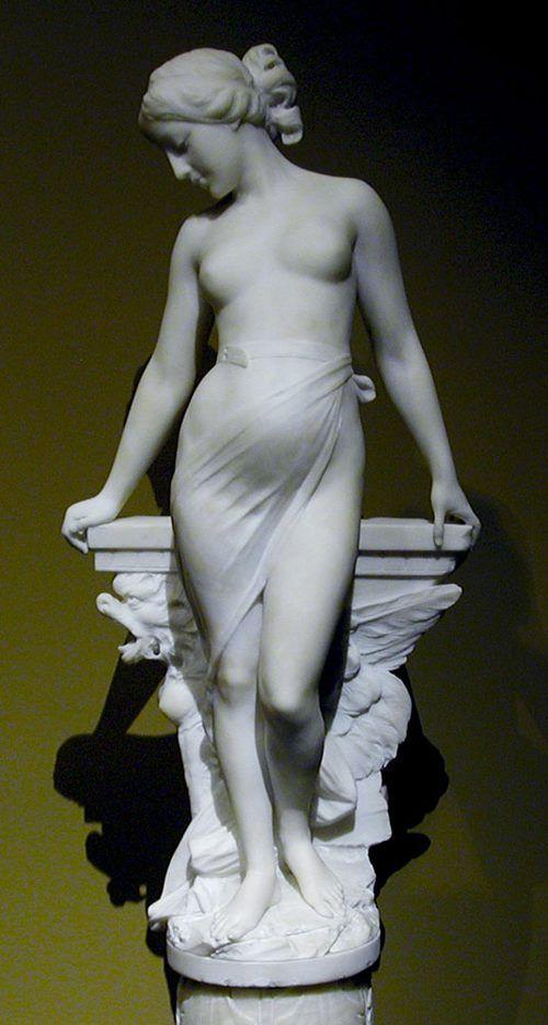 """female nude"" Emilio Flasks (1858-1941)"