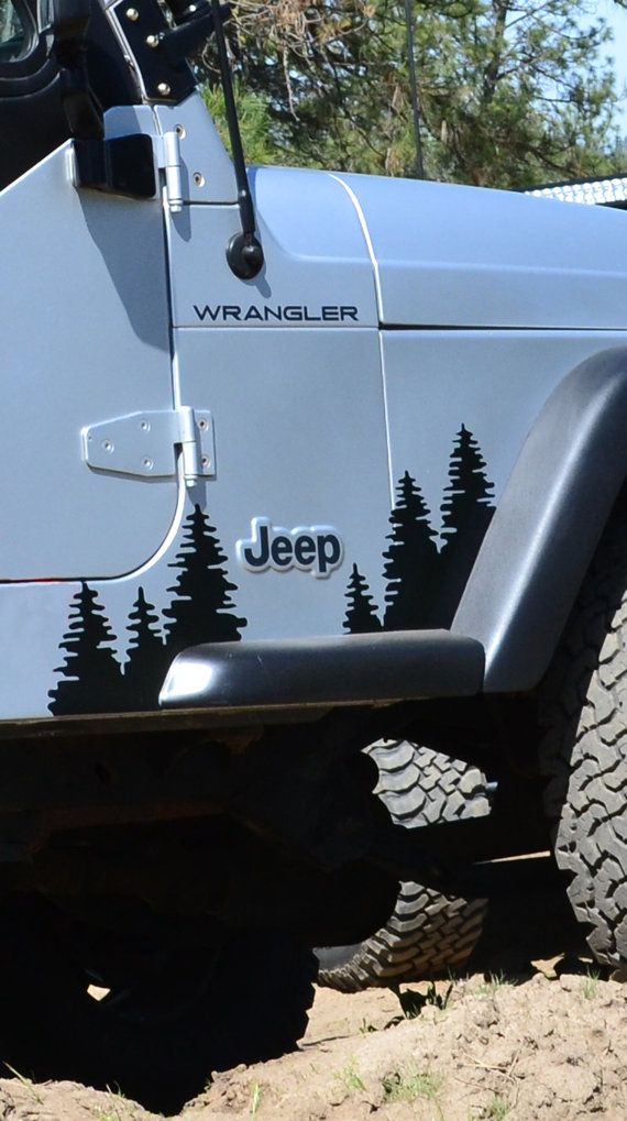 Jeep Wrangler TJ Front Fender Flare Trees sold by GraphicForest