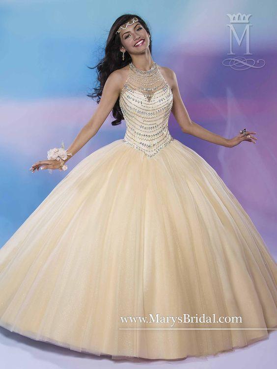 a20e6050a Vestidos para quinceañeras color dorado 2018