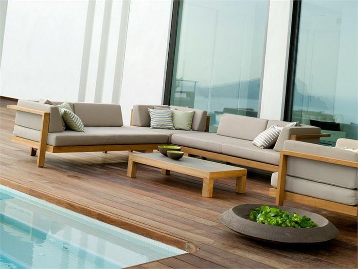 Modular teak garden sofa Pure Sofa Collection by TRIBÙ | design Andrei Munteanu