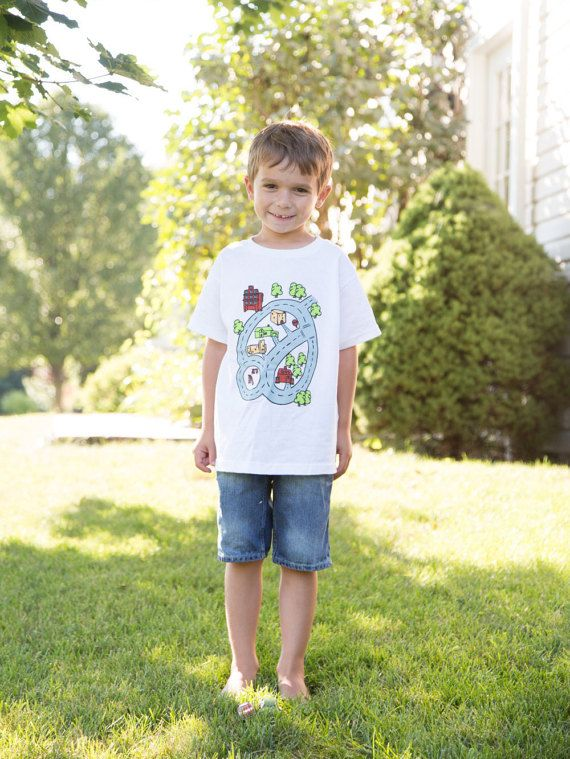 Gifts for Boys Race Track Play T-Shirt for Toddler by swankyturtle