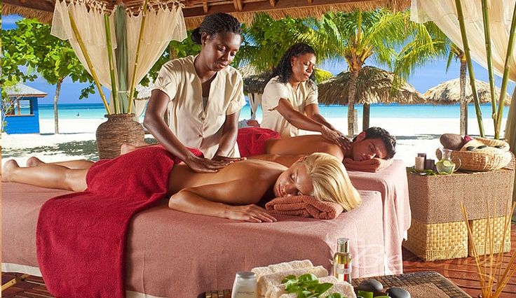 At Beaches Negril, the family that massages together ...