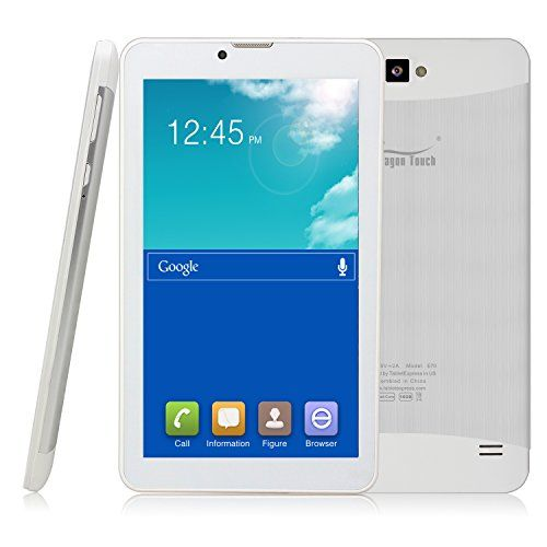 Dragon Touch E70 7'' 3G Tablet PC, Quad Core, IPS Screen, Google Android 4.4.2 Kitkat, 1GB/16GB, Bluetooth, GPS Support, 5MP Rear Camera w/ Auto Focus/Flash, Unlocked GSM, w/ Dual Sim Card Slot, 2G/3G Android Phone Phablet Dragon Touch http://www.amazon.com/dp/B00VNGI3LS/ref=cm_sw_r_pi_dp_Yddmwb1N7D0TA