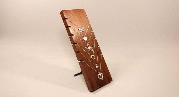 Ketting Display houder ketting, organisator van de ketting, ketting Board, houten sieraden Display, houten sieraden staan, sieraden Display 107