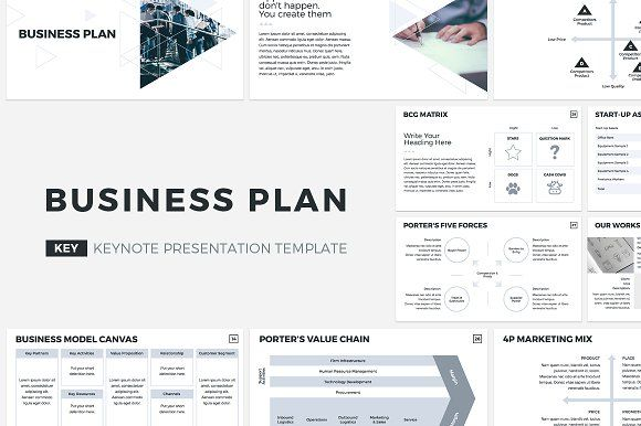 Business Plan Keynote Template by CreativeSlides on @creativemarket