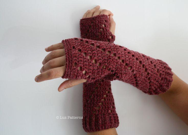 Crochet patterns, girl and women arm warmer pattern, wrist warmer crochet pattern, fingerless glove pattern (113). $3.99, via Etsy.