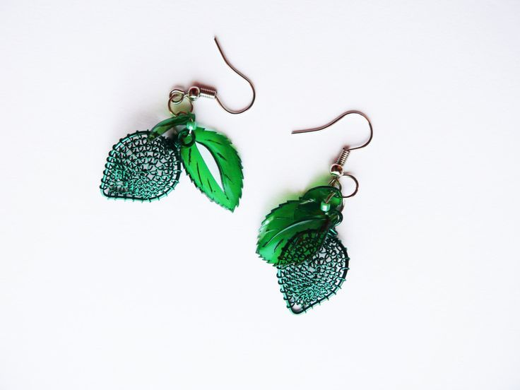 Leaf earrings by ARTinsSK on Etsy