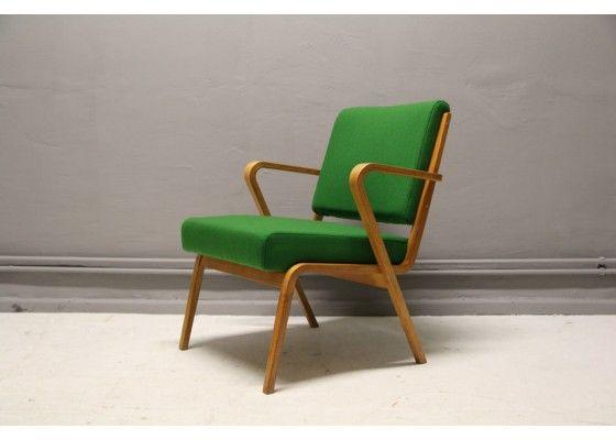 Green Armchair By Selman Selmanagic By VEB Deutsche Werkstätten Hellerau,  1957