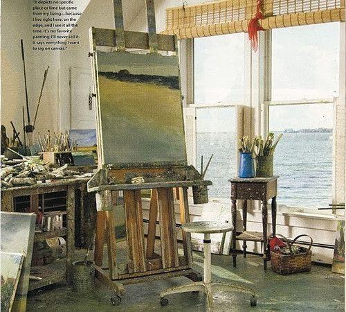 artist studio - anne packard  #artiststudio #homeofficespace