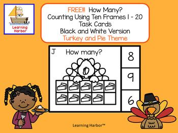 Students will build counting skills, number sense and develop fine motor skills at the same time. Students will look at the ten frames or double ten frames and find the correct number. They can then mark the answer choice with a clothes pin, a mini eraser, or any game marker that you have in your classroom.