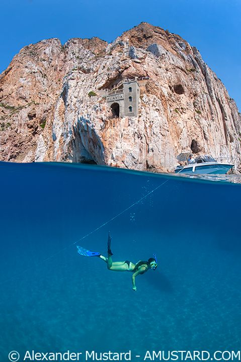 Porto Flavia, sea. Sardinia, Sardegna
