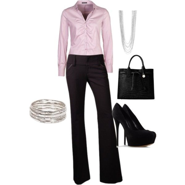 Outfit: Work Clothes, Work Clothing, Fashion, Offices, Styles, Black Heels, Work Outfits, Business Outfits, Business Chic
