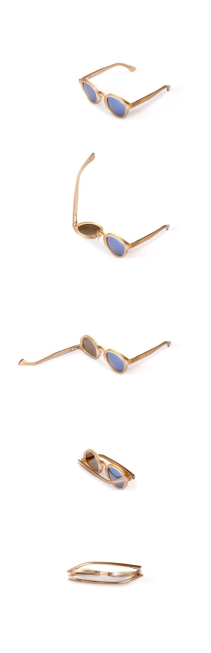 Movitra 315 - Cristallo miele con lente flash blue sky #sunglasses #movitra #movitraspectacles #spectacles #glasses #eyewear