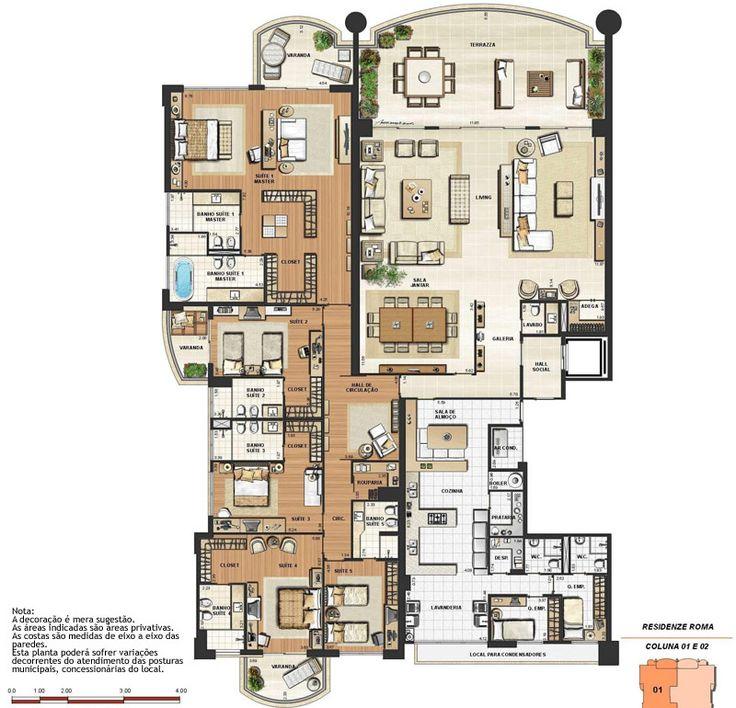 cool residential house plans. Riserva Uno  556m Barra da Tijuca Rio de Janeiro Apartment Floor PlansHouse ArchitectureHouse DesignCasa 386 best At Home House Plans images on Pinterest