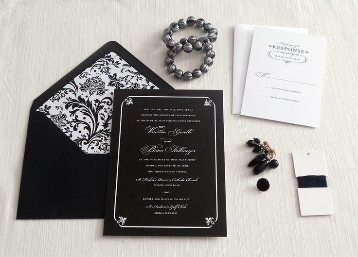 204 best black and white wedding images on pinterest wedding formal black and white wedding invitation sample only via etsy black and white wedding invitations the greatest art of yinyang concept colour black and filmwisefo