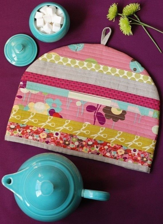PDF Sewing Pattern Posy Cosies Patchwork Tea Cosy Tea Cozy Instant Download