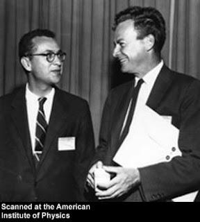 Murray Gell-Mann and Richard Feynman