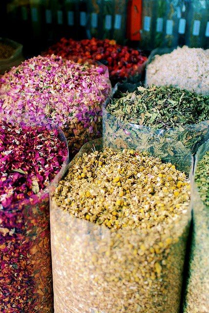 Dried herbs and flowers for teas and other herbal goodies.