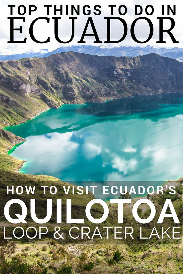 Quilotoa Ecuador, is a stunning volcanic caldera crater high in the Andes mountains in Ecuador. The Quilotoa Loop is a very popular hiking trail which loops around the Panamericana visiting many villages and the Laguna de Quilotoa, called the Lake Quilotoa or Quilotoa Lagoon. Close to Quito Ecuador, Quilotoa Loop can be visited as a day trip from Quito. One of the top things to do in Ecuador and top places to visit in Ecuador. Read more in our Ecuador Travel Guide.