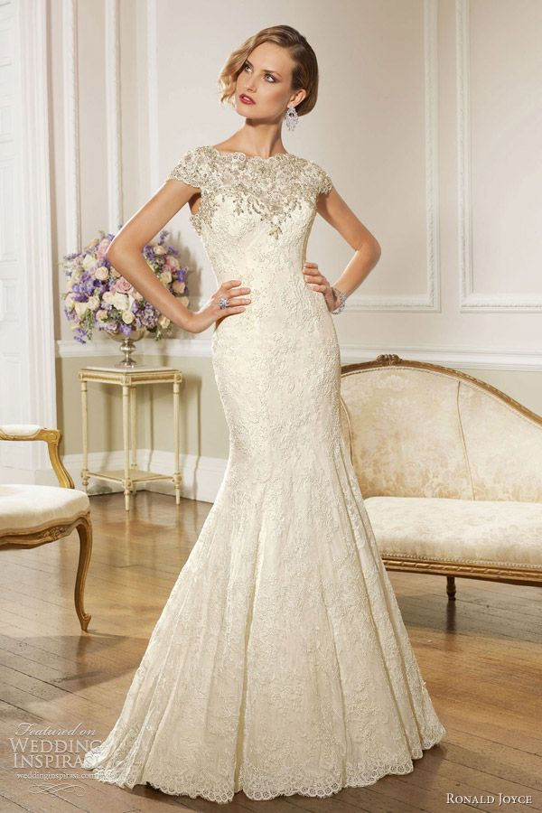 ronald joyce wedding dresses 2013 cap sleeve gown