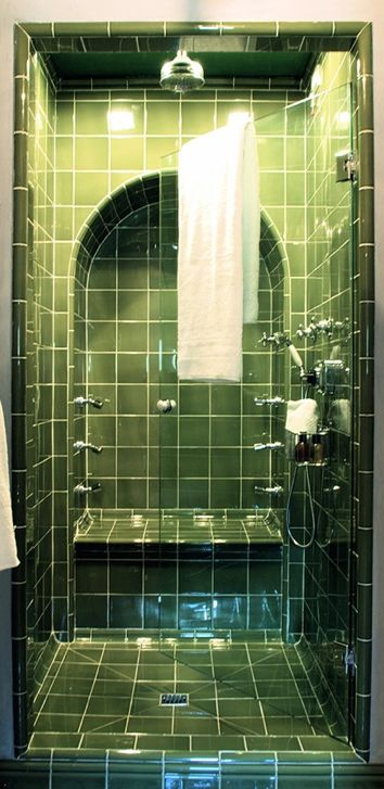 Green Tiles for the bathroom