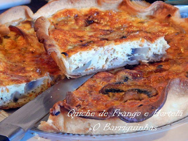 Quiche de Frango e Hortelã