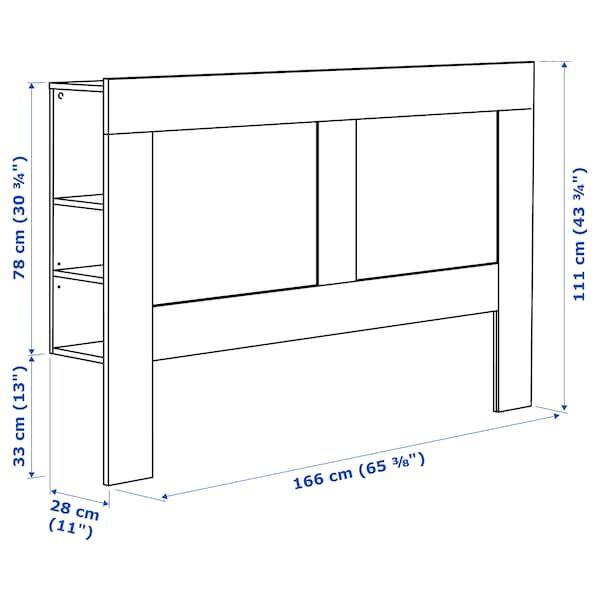 Brimnes Tete De Lit Avec Rangement Blanc 160 Cm Ikea En 2020 Lit Avec Rangement Integre Lit Rangement Tete De Lit Avec Rangement