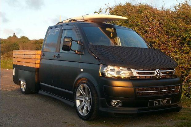 Best 90 transporter images on pinterest automotive engineering vw transporter crew cab conversion matte black fandeluxe Choice Image