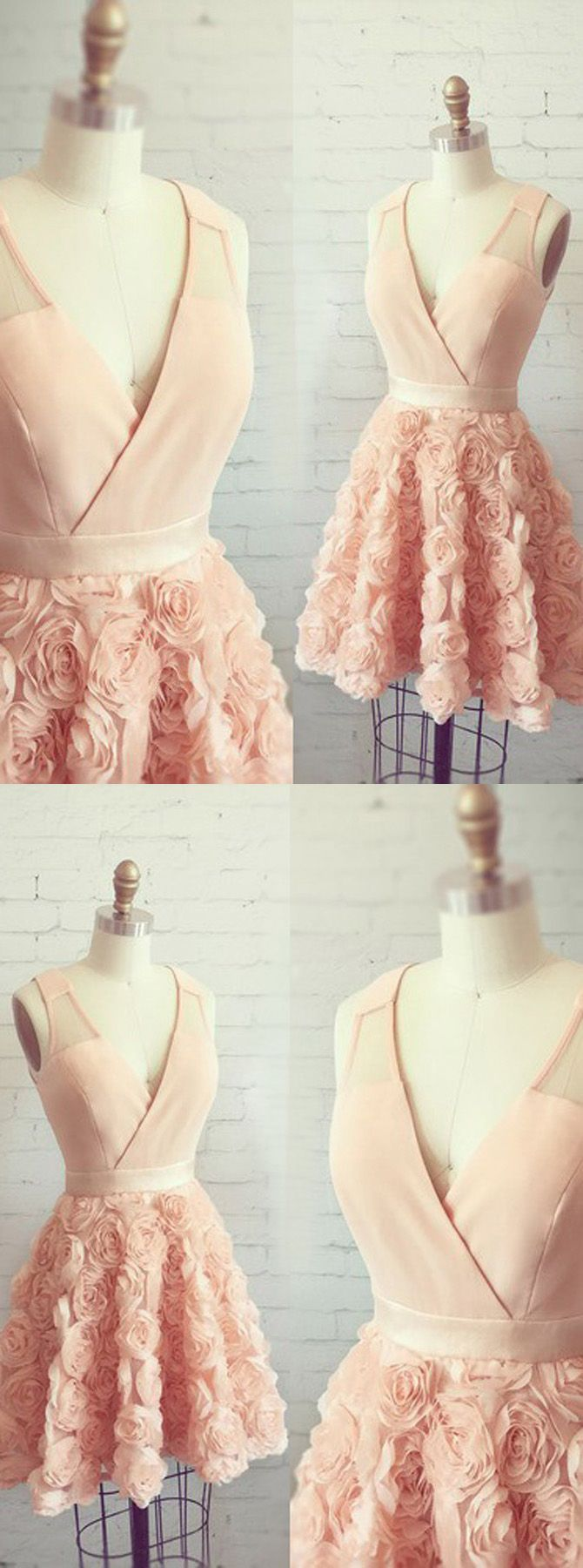 homecoming dresses,short homecoming dresses,cheap homecoming dresses,pink homecoming dresses,v-neck homecoming dresses,appliques homecoming dresses,