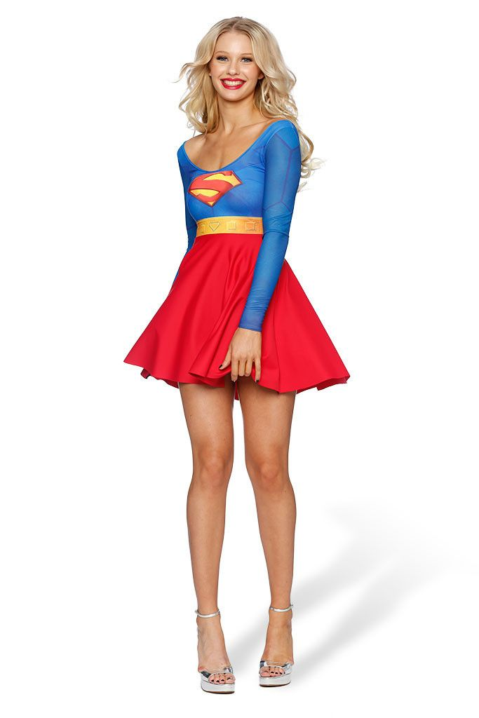 Superman Long Sleeve Skater Dress