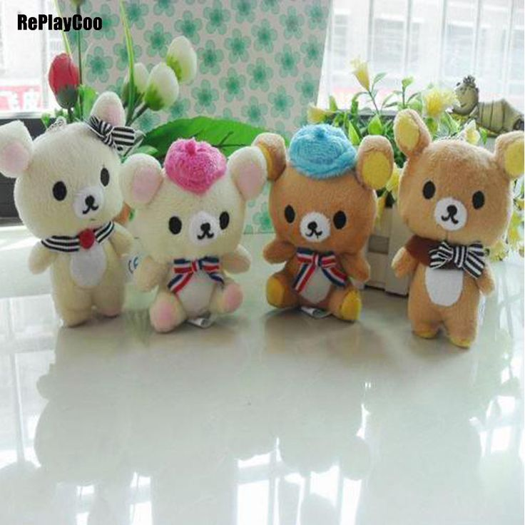 40pcs/lot Kawaii Small Joint Happy Bears Stuffed Plush 11CM Toy Teddy-Bear Mini Bear Ted Bears Plush Toys Wedding Gifts 051 #Affiliate
