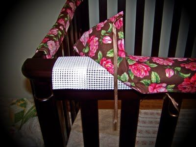 the story of us...: DIY Crib Rail Protectors.                                        With the Winnie the Pooh fabric